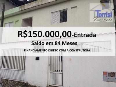Sobrado Em Praia Grande, 03 Dormitórios, Na V. Guilhermina, So0044 - So0044