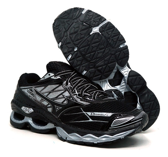 Tênis Mizuno Wave Creation 20 Preto E Prata