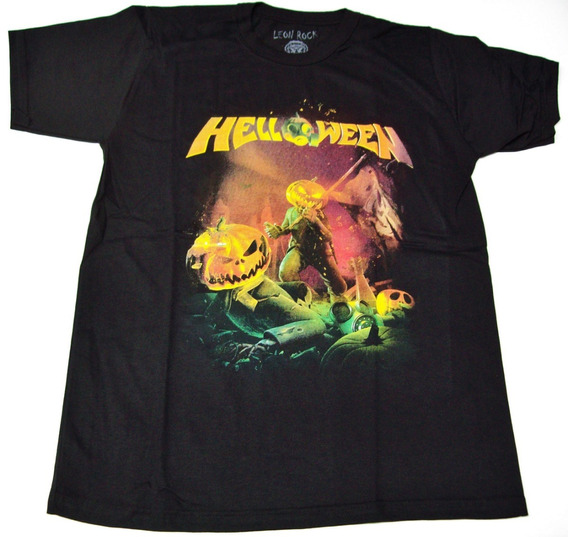 Remera Helloween Talle L - Large ( 53 X 72 Cm) Big Bang Rock