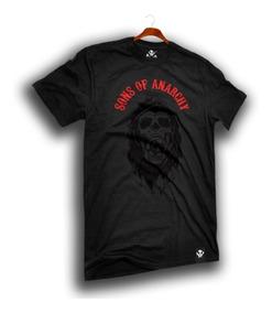 Playera Sons Of Anarchy Kaniel Logo Samcro Redwood Mayhem Lp