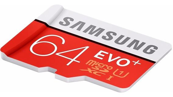 Cartão Samsung Micro Sd Sdxc Evo 64gb 80mb/s Frete Grátis
