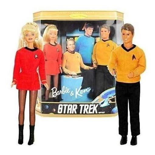 Barbie And Ken 30th Anniversary Star Trek Giftset P. Entrega