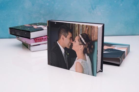Álbum De Fotos Encadernado 20x25 Panorâmico