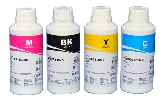 4 X 500ml Tinta Epson Corante Inktec L365 L375 L395 L396