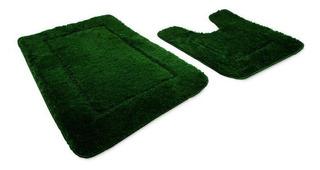 Set(2) De Tapetes Para Baño Adara Green Envio Gratis