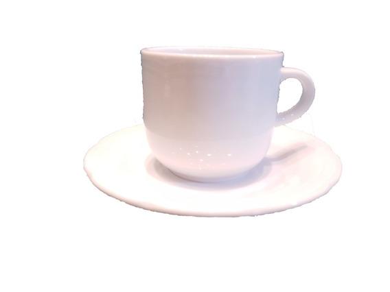 Juego 6 Tazas Cafe Con Plato+6 De Te Con Plato Tsuji 1800