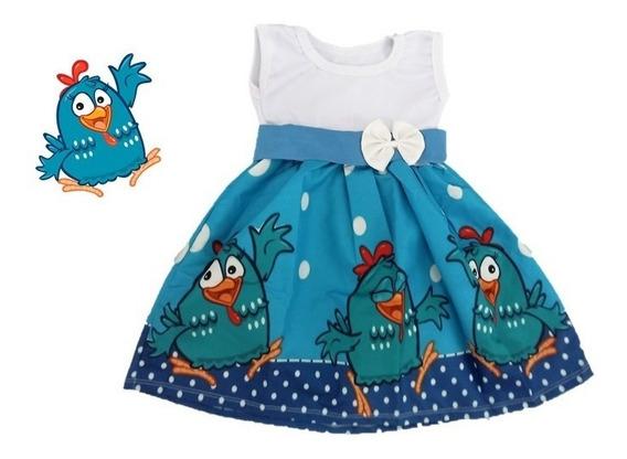 Vestido Infantil Festa Galinha Pintadinha - Roupa/fantasia
