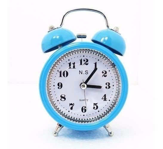 Kit Com 5 Relógio Despertador De Ponteiro - Clássico 2 Sinos