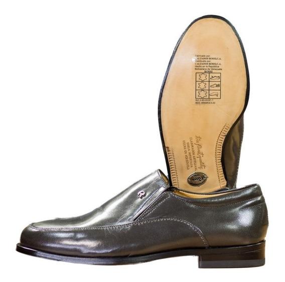 Zapatos De Vestir Rossi Para Caballero De Piel Color Gris