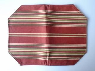 Mantel Personal Rayas De Tela Bow-tique Eua