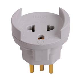 Plug Adaptador 2p+t(antigo)/2p+t (novo) Computador