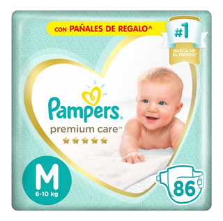 Pañales Pampers Premium Care Mensual Todos Los Talles - Pañalera Arenita