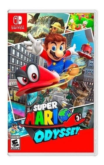 Jogo Super Mario Odyssey Nintendo Switch Usado Mídia Física