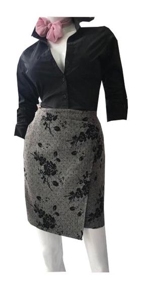 Falda Para Dama Con Pliegue Cruzado P.zl