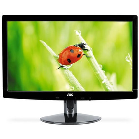 3 Monitores Usados Lcd Led 15,6 Aoc Hd E1621sw Widescreen