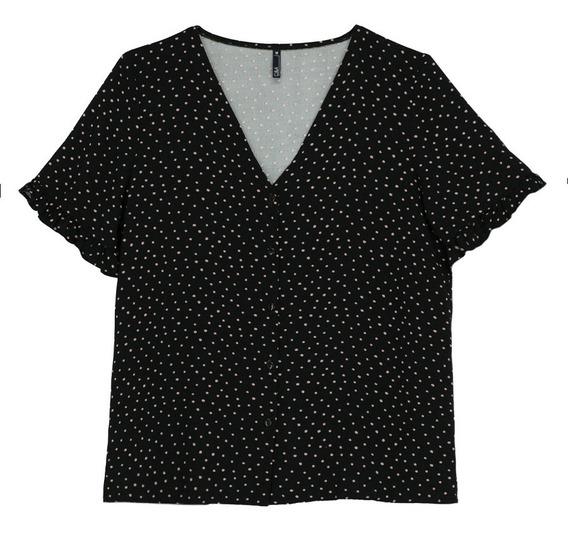 Camisa De Pijama De Mujer C&a Estampado De Puntos