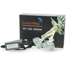 Par Lâmpada Xenon Super Led Importway H1 6000k 6000 Lumens