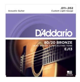 Cuerdas Guitarra Electroacustica Daddario Ej13 Bronze 80/20