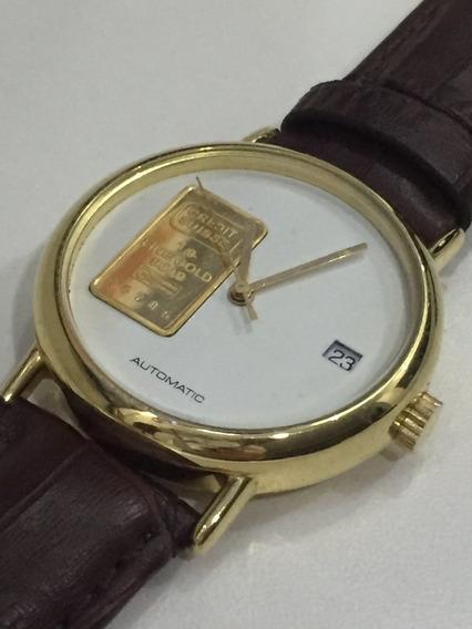 Relógio 1g Fine Gold 999,9 (ouro) Automatic Swiss