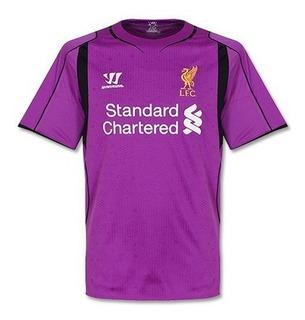 Camisa Liverpool Roxa 14-15 Goleiro Importada