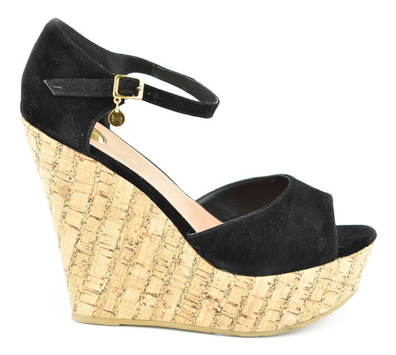 Sandalia Plataforma Mujer Lob 672-9963 Negro Nuevo Oi19