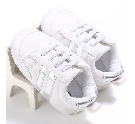 Par De Zapatos Tipo Teni Deportivos Para Bebe Hermosos Blanc