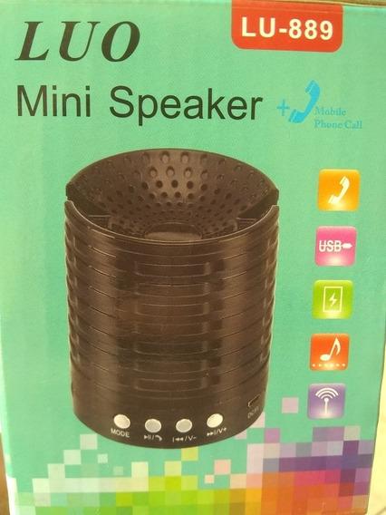 Mini Speaker Luo Com Bluetooth