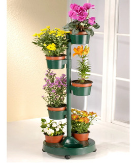 Macetero Modular Flower 7macetas 35x94.5cm Verde