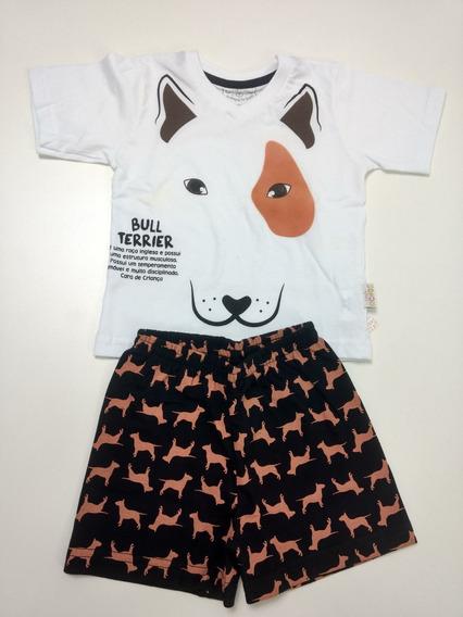 Pijama Infantil Menino Bull Terrier 1 E 2