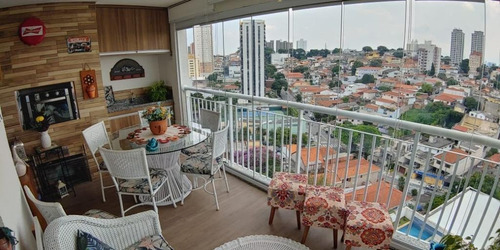 Apartamento Com Sala Ampliada + Varanda Gourmet, 1 Dormitório E 1 Vaga À Venda, 68 M² Por R$ 640.000 - Santana - São Paulo/sp - Ap9734