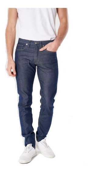 Jeans Hombre Bensimon Standard Leather Blue Slim Recto