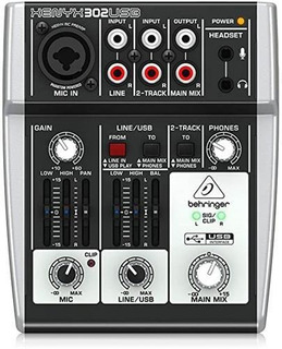 Behringer Xenyx 302usb Consola Interface De Audio Usb 2 Can