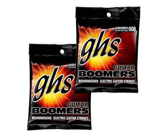 Kit 2 Encordoamento Ghs P/ Guitarra 008 Boomers Set Gbul
