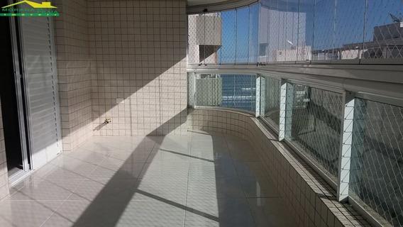Apartamento Alto Padrão No Forte, Mobiliado, 3 Dormitórios, Lazer, Só Na Imobiliária Em Praia Grande - Mp13029