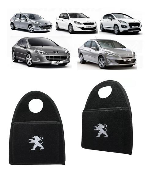 Lixeira Lixinho P/ Cambio Automotiva Carro Logo Peugeot