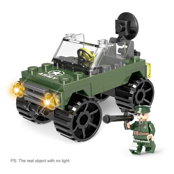 6- Em -1 Xipoo Série Militar 820pcs Verde Escuro