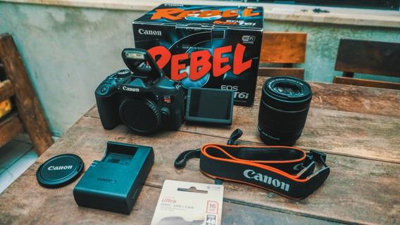 Canon T6i + Lente 18-55 + Na Caixa+ Cartão 16gb A Vista 2299