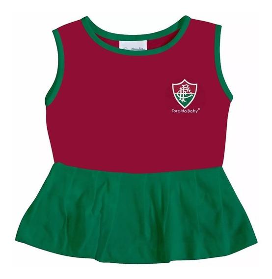 Vestido Infantil Do Fluminense Torcidababy Oficial Menina