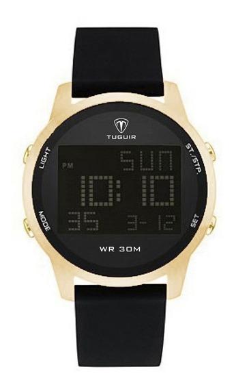 Relógio Masculino Tuguir Digital Tg7003 - Preto E Dourado