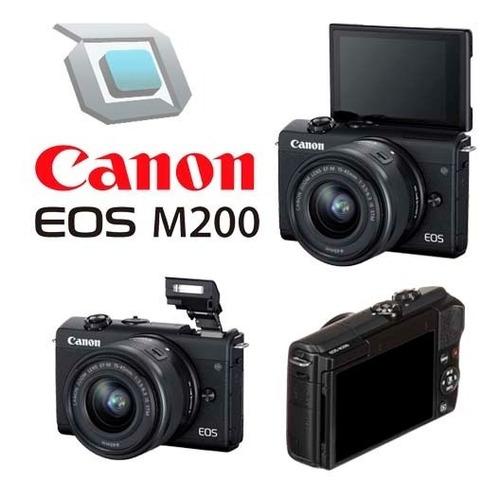 Camara Canon M200 Lente 15-45mm 4k 24.1mp Mirrorless. Iva In