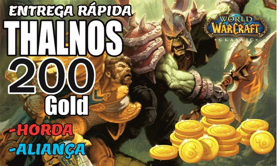 Gold Wow Classic Thalnos 200g Ouro