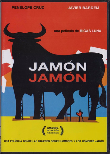 Imagen 1 de 3 de Jamon Jamon Penelope Cruz Javier Bardem Pelicula Dvd