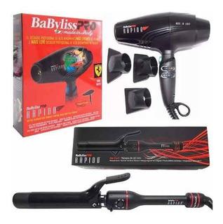 Kit Babyliss Rapido Buclera Zip Curl 32mm + Secador Pelo