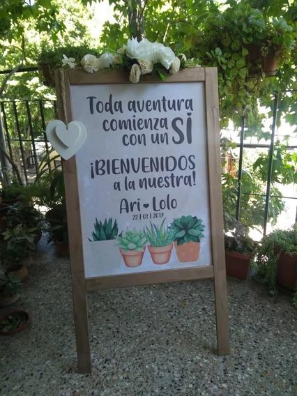 Cartel De Bienvenida Para Casamiento / Eventos