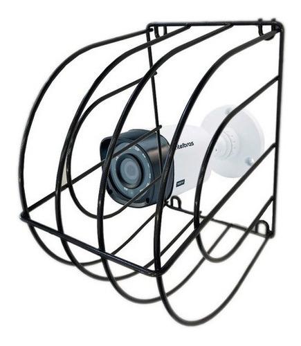 Imagem 1 de 7 de Grade De Proteção Gaiola Para Camera De Segurança Cftv