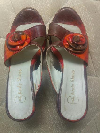 Zuecos Andy Shoes Sandalias Coloridos Matizados Plataforma