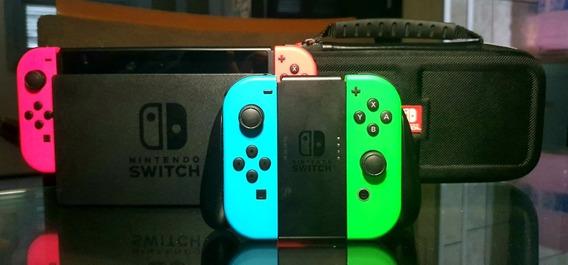 Nintendo Switch + Controle + Case + Jogo