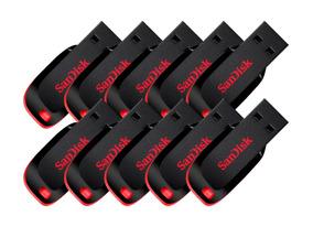 Kit 10 Pen Drive 16gb Sandisk Original Garantia