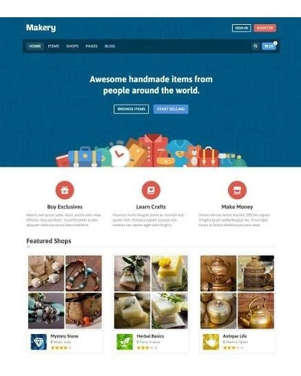 Site Marketplace E Multi Vendedores - Tema Makery