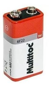 Kit 10 Bateria 9 Volts, Multímetro ,alarmes, Sensores Etc..